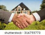 handshaking for house   Shutterstock . vector #316755773