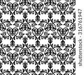 oriental  fine classic pattern. ... | Shutterstock . vector #316761947