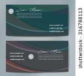 stylish business cards with...   Shutterstock .eps vector #316788113
