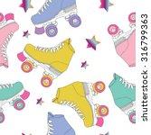 skate rolls pattern seamless... | Shutterstock .eps vector #316799363
