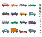 car collection icon vector... | Shutterstock .eps vector #316800257