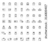 present icon set in thin line... | Shutterstock .eps vector #316800407