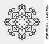 kazakh national ornament ...   Shutterstock .eps vector #316805057