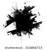 ink splash. vector grunge... | Shutterstock .eps vector #316806713