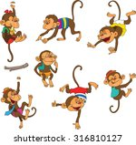 funky monkey clothing. ... | Shutterstock .eps vector #316810127