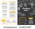 christmas party invitation... | Shutterstock .eps vector #316825487