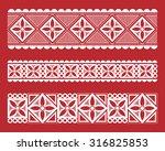 indian tribal painting. border | Shutterstock .eps vector #316825853
