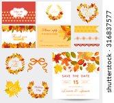 scrapbook design elements  ... | Shutterstock .eps vector #316837577