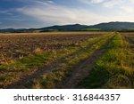 road through the fields  poland.