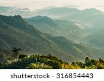 sunrise at northern of thailand   Shutterstock . vector #316854443