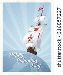 happy columbus day. vector...   Shutterstock .eps vector #316857227