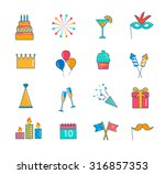 celebration and party icons... | Shutterstock .eps vector #316857353