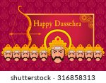 vector illustration of ravana... | Shutterstock .eps vector #316858313