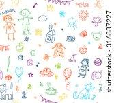 hand drawn doodle children...   Shutterstock . vector #316887227