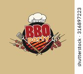 bbq party  barbecue  symbol ... | Shutterstock .eps vector #316897223