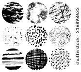 set of grunge circles. hand... | Shutterstock .eps vector #316898633