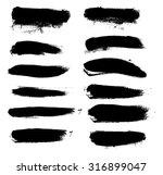 set of black grunge banners... | Shutterstock .eps vector #316899047