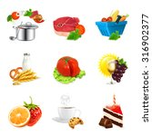 food concepts  isolated vector... | Shutterstock .eps vector #316902377