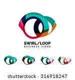 set of infinity concepts  loop... | Shutterstock .eps vector #316918247