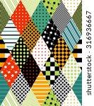 bright seamless patchwork... | Shutterstock .eps vector #316936667