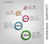 time line info graphic with... | Shutterstock .eps vector #316947677