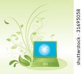 green computer technology... | Shutterstock .eps vector #31695058