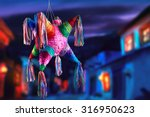 colorful mexican pinata used in ... | Shutterstock . vector #316950623