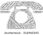 word cloud in the form of an... | Shutterstock .eps vector #316960343