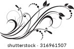 floral background with...   Shutterstock .eps vector #316961507