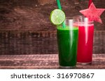 Fresh Red And Green Smoothie O...