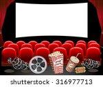 cinema hall    Shutterstock .eps vector #316977713
