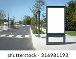 blank outdoor billboard in... | Shutterstock . vector #316981193