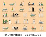 medical staff and patients... | Shutterstock .eps vector #316981733