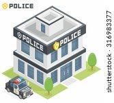 police department building | Shutterstock .eps vector #316983377