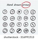 hand drawn vector arrows.black... | Shutterstock .eps vector #316991513