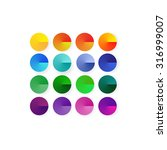 16 vector brightly colored... | Shutterstock .eps vector #316999007