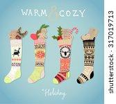 Hanging Christmas Socks With...