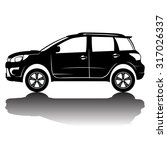 vector isolated car silhouette... | Shutterstock .eps vector #317026337