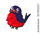 bird  bullfinch  | Shutterstock .eps vector #317031317