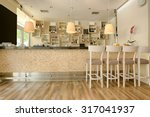 counter in cafe bar | Shutterstock . vector #317041937
