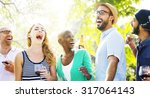 diverse people friends hanging... | Shutterstock . vector #317064143