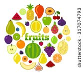 healthy food concept vector... | Shutterstock .eps vector #317074793
