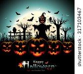Halloween Design With Pumpkins...