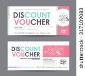 discount voucher template with... | Shutterstock .eps vector #317109083