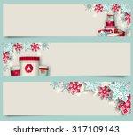 set of christmas banners ... | Shutterstock .eps vector #317109143