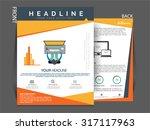 vector flyer  brochure ... | Shutterstock .eps vector #317117963