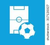 football icon  simple white...