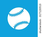 baseball ball icon  simple...