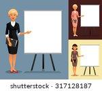 three variants of businesswomen ... | Shutterstock .eps vector #317128187