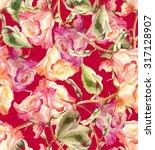 roses seamless pattern | Shutterstock . vector #317128907